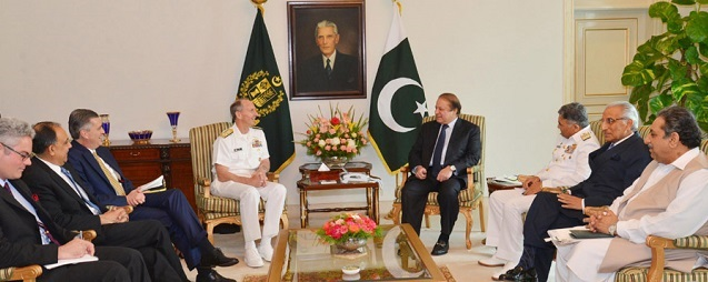 Nawaz, US chief of naval operations discuss regional security
