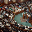 The opposition Leader in Punjab assembly Mian Mehmoodur Rashid on Wednesday handed over resignation letters of 28 MPAs of the Pakistan Tehreek-e-Insaf (PTI) to the assembly secretariat in the Punjab assembly building.