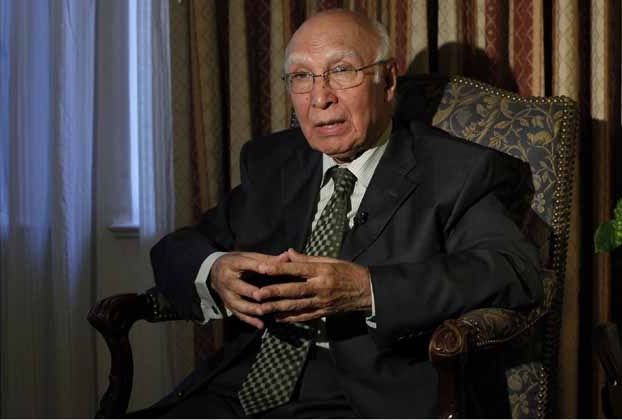 Pakistan supports for peaceful democratic transition in Afghanistan: Sartaj Aziz