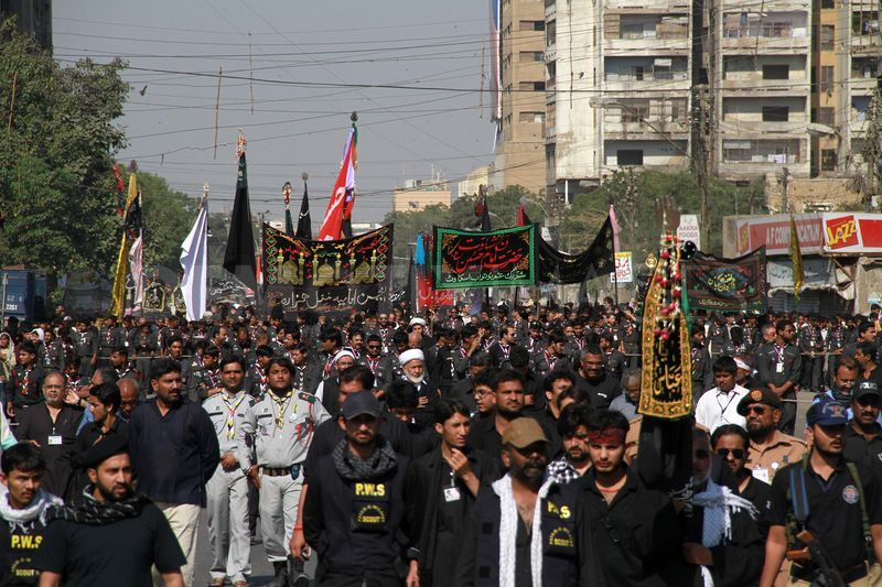 Processions being taken out across country to mark Ashura