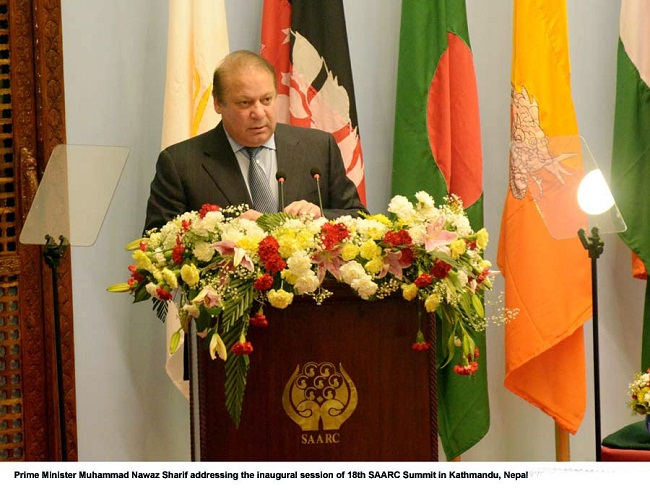 18th SAARC summit: Nawaz calls for a dispute-free South Asia