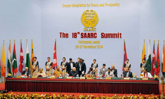 18th SAARC summit concludes with signing of energy cooperation deal