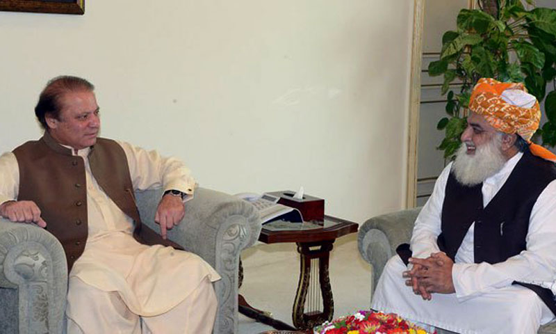Nawaz, Fazl discuss political situation in country
