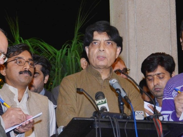 Nisar asks PTI to come to negotiating table after Nov 30 rally