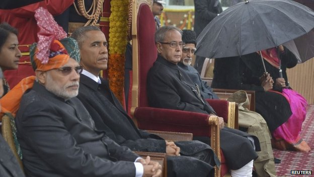Obama attends India's 66th Republic Day parade