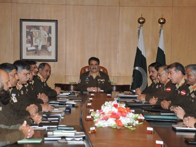 Corps Commanders meet in GHQ to discuss security situation