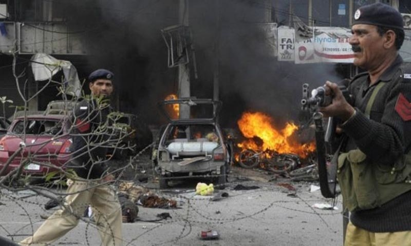 Suicide blast near Lahore's police lines, eight killed