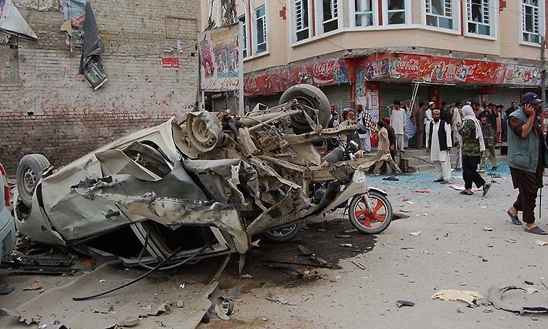 Two including FC personnel killed in Balochistan blasts