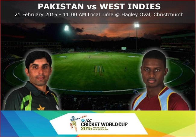 PTV Sports live cricket streaming Pakistan vs West Indies cricket world cup 2015