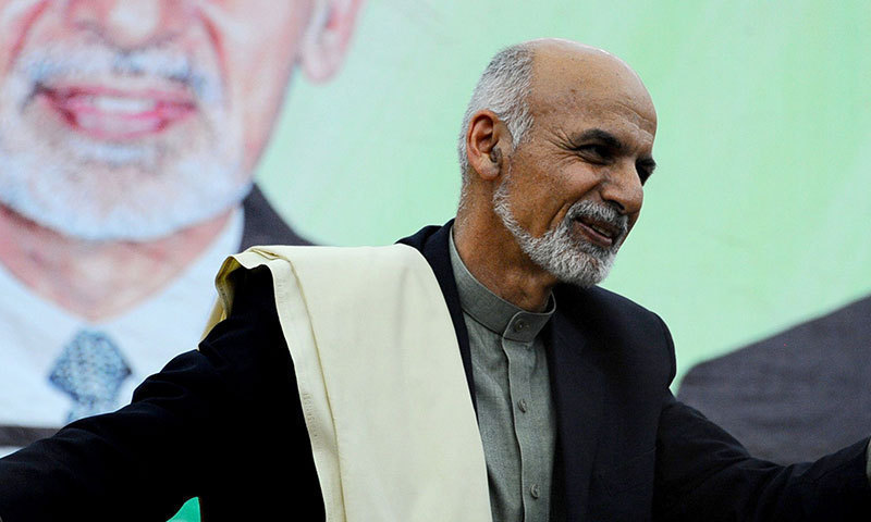 Afghan president welcomes Pakistan's efforts for peace