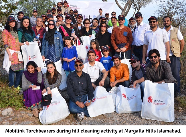 Mobilink Foundation Conducts Clean-up Activity for Environment Preservation