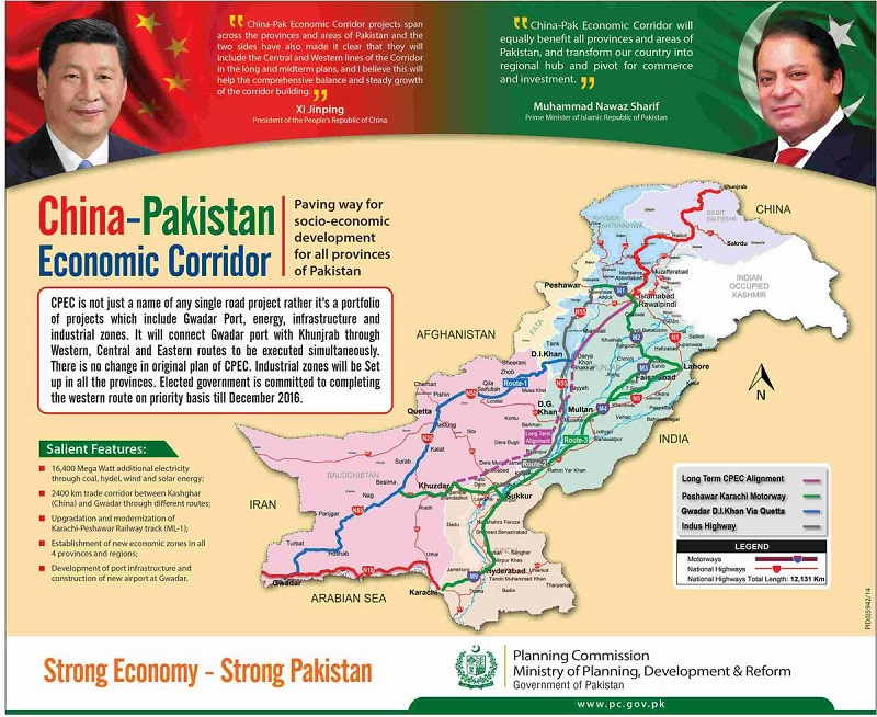 Nawaz convenes APC to discuss CPEC route on May 28