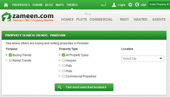 Knowledge sharing: Zameen com launches Property Search