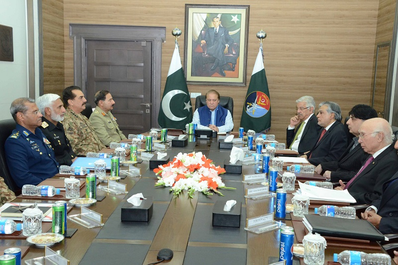 National Command Authority meeting reviews security environment