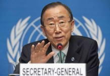 Ban ki-Moon suggests Pakistan and India to avoid escalation of tensions