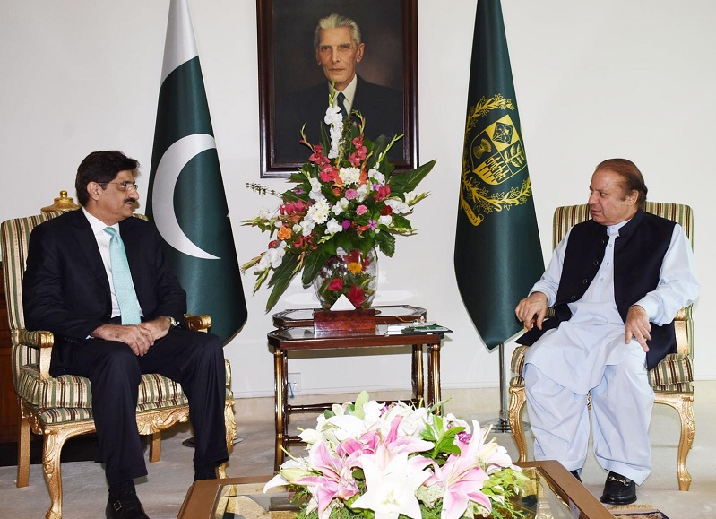 Nawaz assures Murad of all-out support for Sindh development