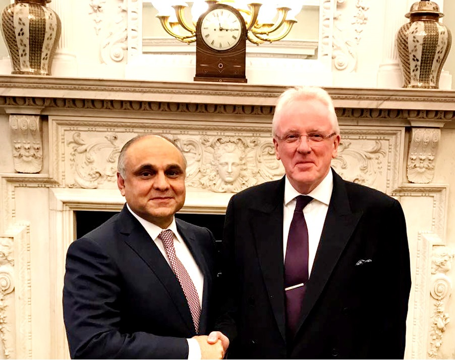 Lord Mayor of the City of London Dr. Andrew Parmley and Pakistan High Commissioner to the United Kingdom Syed Ibne Abbas